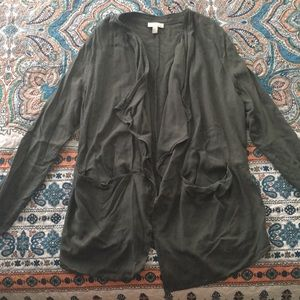 Olive Green Nordstrom Rack 14th&Union Cardigan